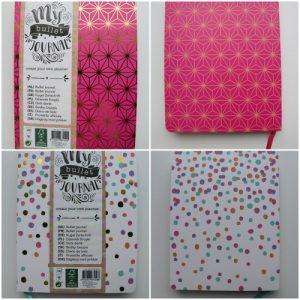 journaling roze en witte action
